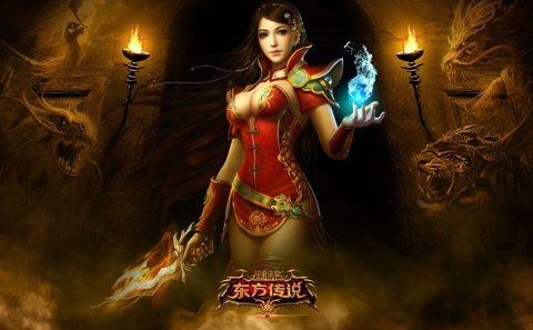 slika za pozadinu orential legend djevojka u crvenom
